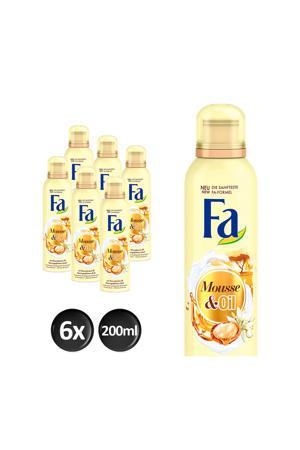 Foam Cream&Oil Moringa douchegel - 6x 200ml multiverpakking