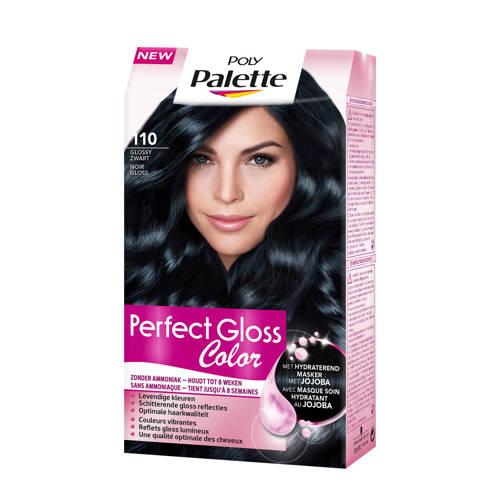 Schwarzkopf Poly Palette Perfect Gloss haarkleuring - 110 Gloss haarkleuring -y Zwart