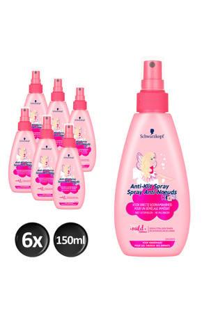 Girls Anti-Klit spray - 6x 150 ml multiverpakking