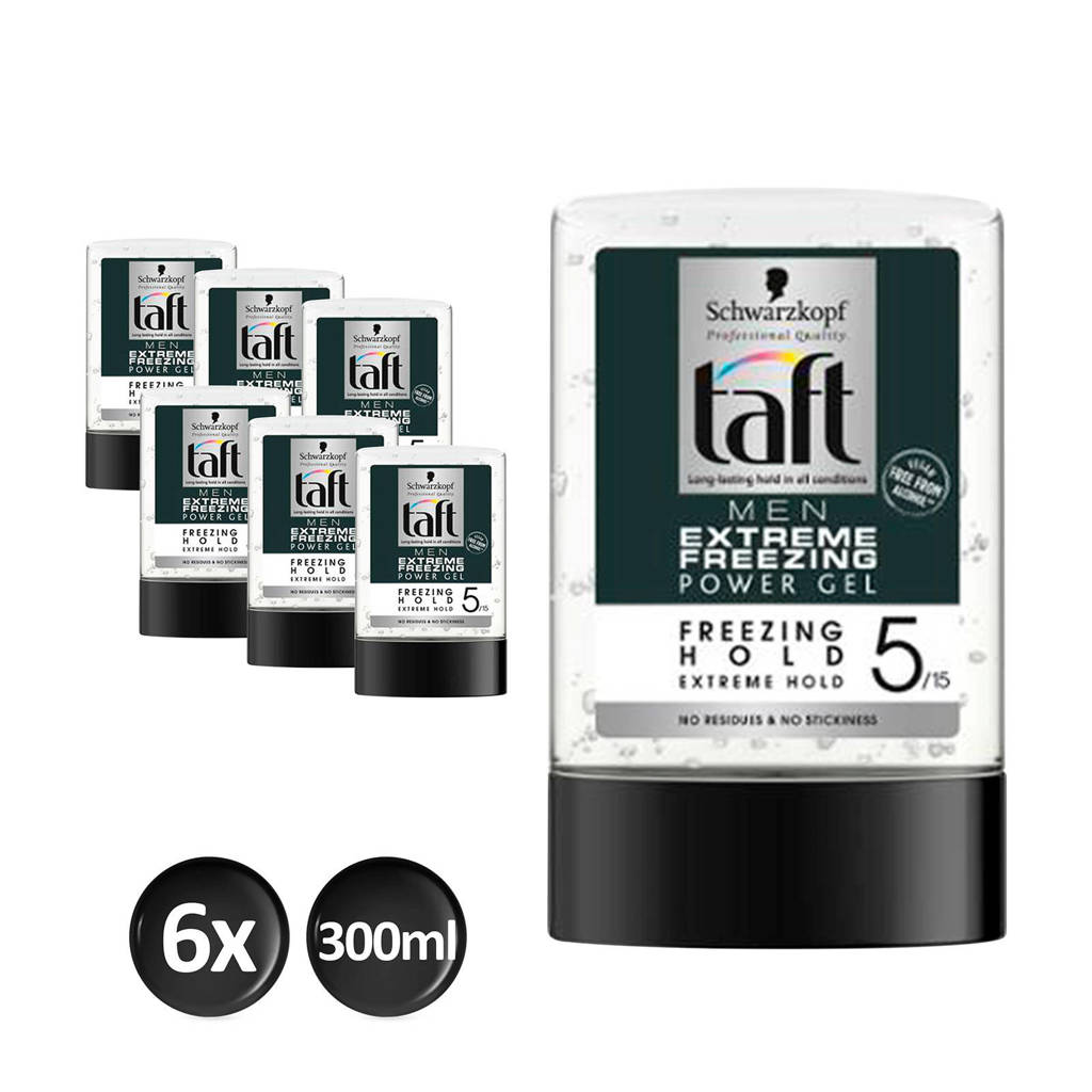 Schwarzkopf Taft Styling Power Gel Extreme flacon - 6x 300ml multiverpakking
