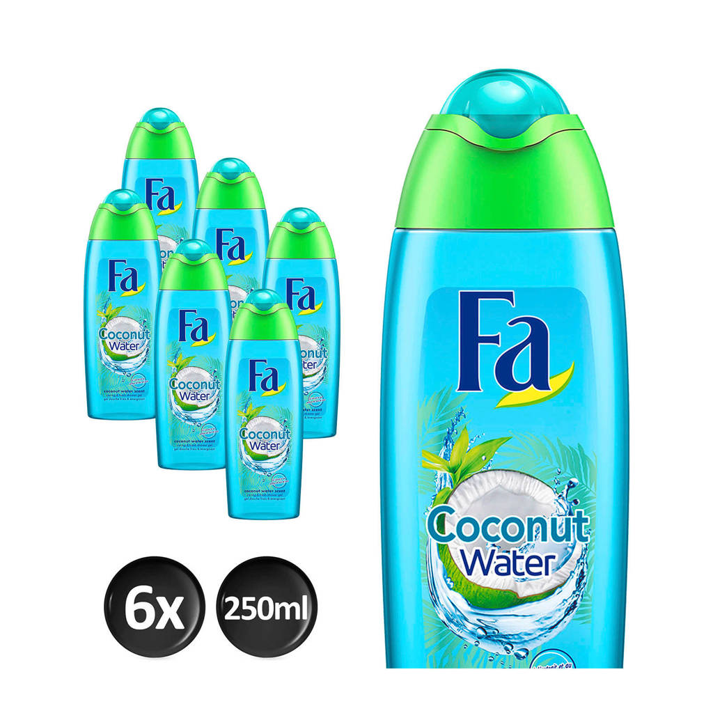 FA Coconut Water douchegel - 6x 250ml multiverpakking