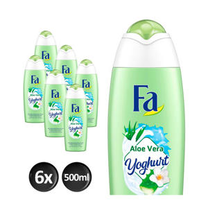 Bad Yoghurt Aloe Vera bad- en douche- 6x 500ml multiverpakking