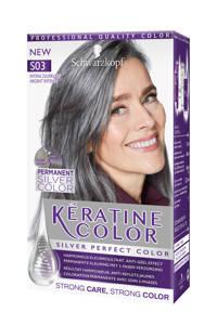 Schwarzkopf Keratine haarkleuring -S03 Intense Zilvergrijs, Keratine Color S03 Intense Zilvergrijs