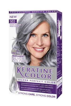 Keratine haarkleuring -S02 Elegant Zilvergrijs