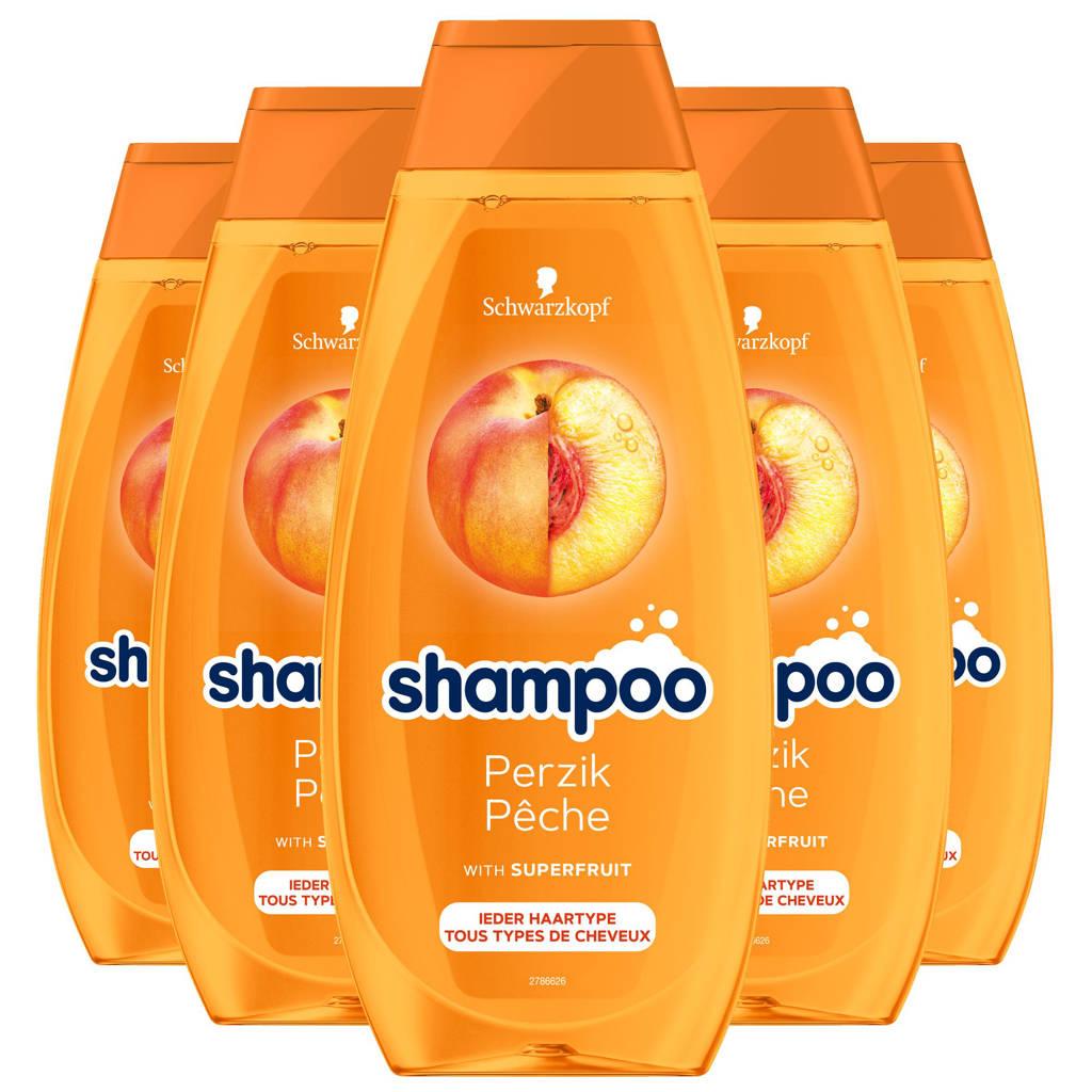 Schwarzkopf Perzik shampoo - 5x 400ml multiverpakking