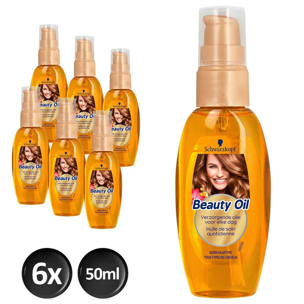 Schwarzkopf Treatment Beauty Oil - 6x 50ml multiverpakking