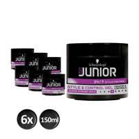 Schwarzkopf Junior Power Styling Style & Control L4 gel - 6x 150ml multiverpakking