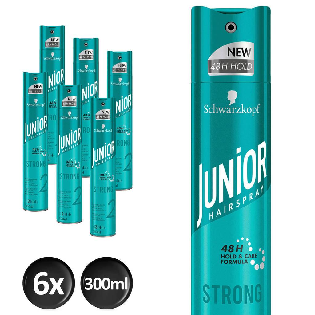 Schwarzkopf Junior Hairspray Strong - 6x 300 ml multiverpakking