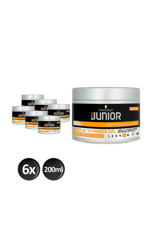 Junior Power Styling Style 'N Freeze L5 gel - 6x 200ml multiverpakking