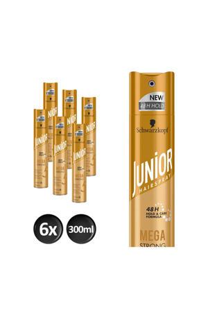 Hairspray Mega Strong - 6x 300 ml multiverpakking