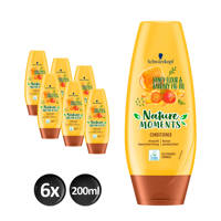 Schwarzkopf Nature Moments Honey Elixir&Barbary Fig Oil conditioner - 6x 200 ml multiverpakking