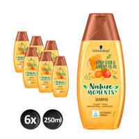 Schwarzkopf Nature Moments Honey Elixir&Barbary Fig Oil shampoo - 6x 250 ml multiverpakking