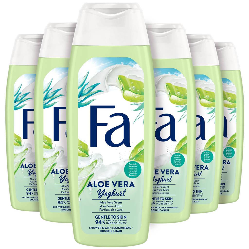 FA Yoghurt Aloe Vera douchegel - 6x 250ml multiverpakking