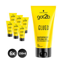 Schwarzkopf Got2b Glued Styling gel - 6x 150ml multiverpakking