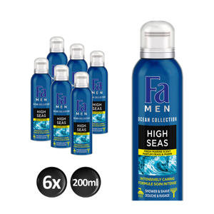 Men Foam High Seas douchegel - 6x 200ml multiverpakking