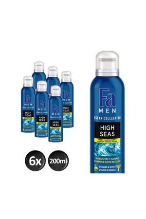 Men Foam High Seas douchegel - 6x 200ml multiverpakking