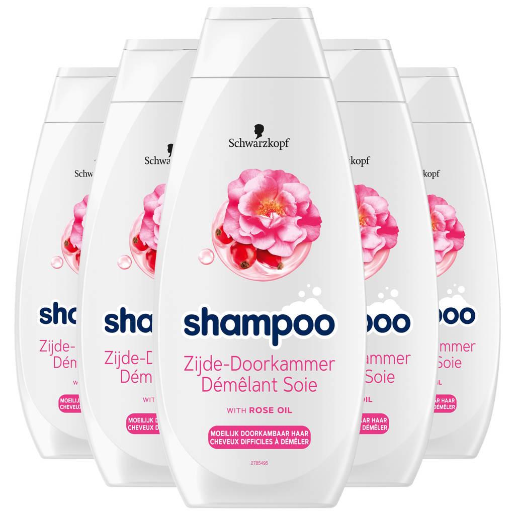 Schwarzkopf Zijde-Doorkammer shampoo - 5x 400ml multiverpakking