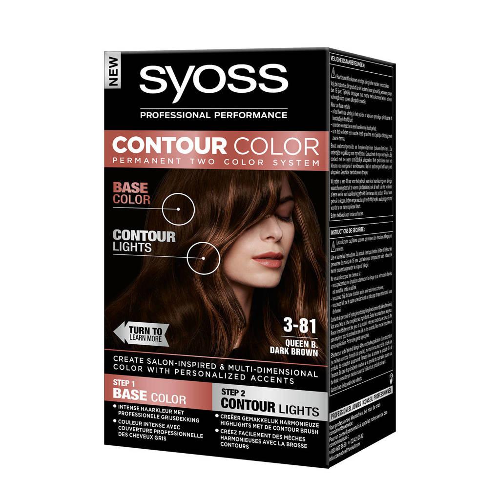 Syoss Contour Color haarkleuring - 3-81 Queen B. Dark Brown