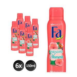 Deospray Paradise Moments - 6x 150ml multiverpakking