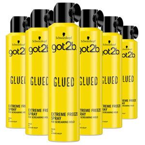 Glued Hairspray - 3x 300 ml multiverpakking