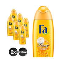 FA Honey Elixir douchegel - 6x 250ml multiverpakking
