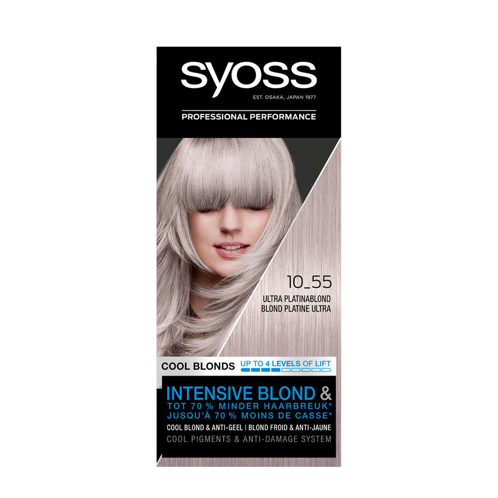 Syoss Color Blond haarkleuring - 10-55 Ultra Platinum Blond, Cool Blonds 10-55 Ultra Platinum Blond