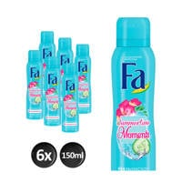FA Deospray Summertimes Moments - 6x 150ml multiverpakking