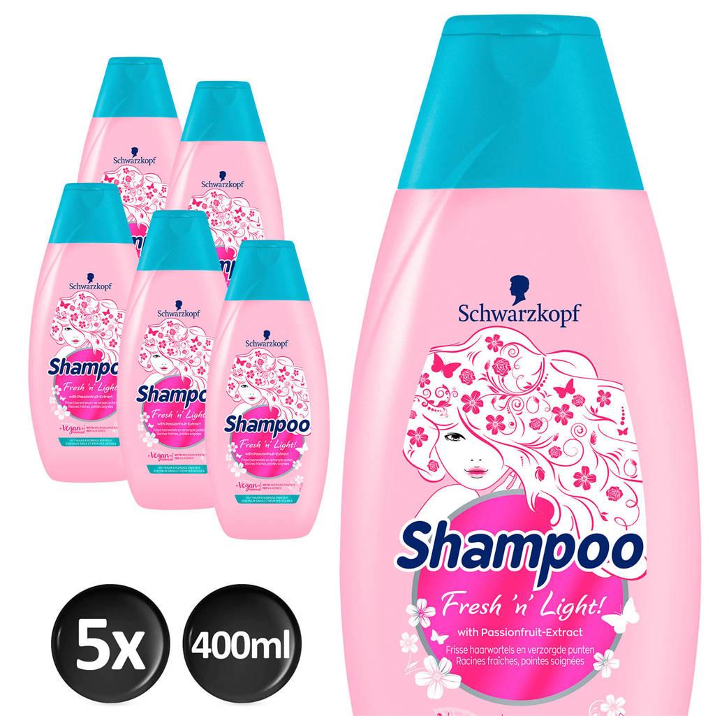 Schwarzkopf Fresh 'n Light shampoo - 5x 400ml multiverpakking