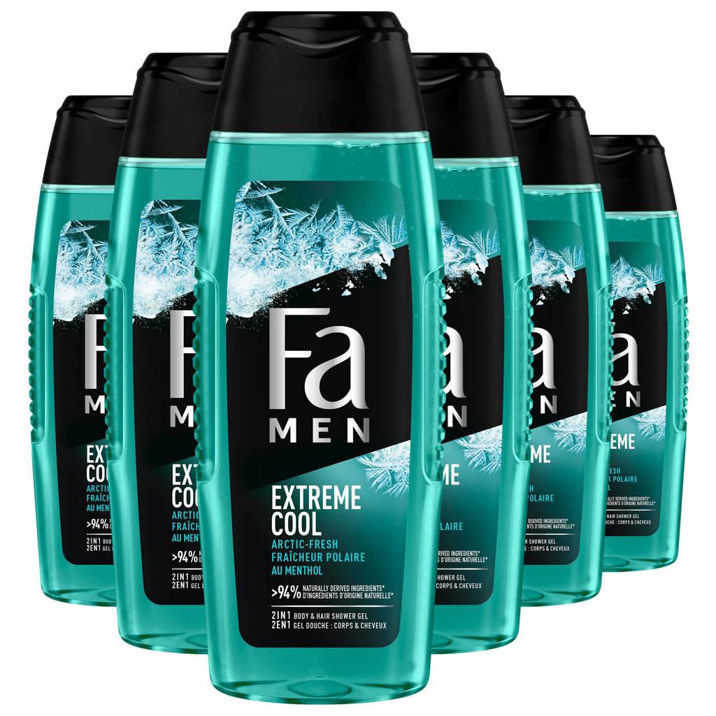FA Men Extreme Cool douchegel - 6x 250ml multiverpakking