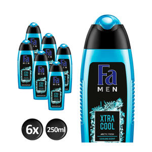 Men Extreme Cool douchegel - 6x 250ml multiverpakking