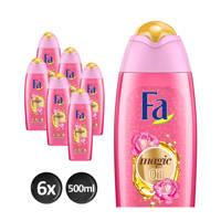 FA Magic oil Pink Jasmine badschuim - 6x 500ml multiverpakking