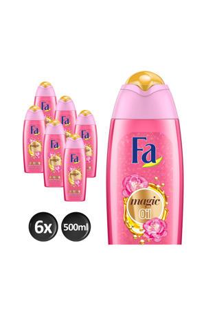 Magic oil Pink Jasmine badschuim - 6x 500ml multiverpakking