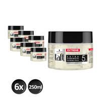 Schwarzkopf Taft Styling Freezing Gel Extreme gel - 6x 250 ml multiverpakking