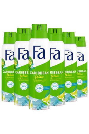 Deospray Caribbean Lemon - 6x 150ml multiverpakking