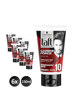 Taft Styling Carbon Force gel tube - 6x 150ml multiverpakking