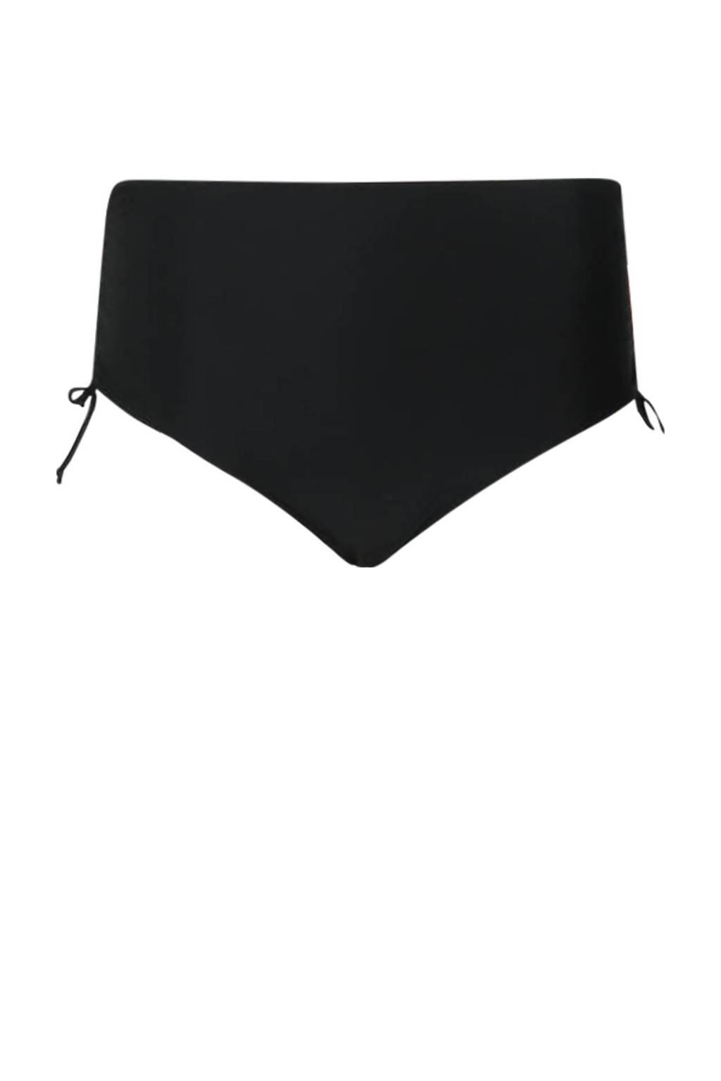 Paprika high waist bikinibroekje zwart, Zwart