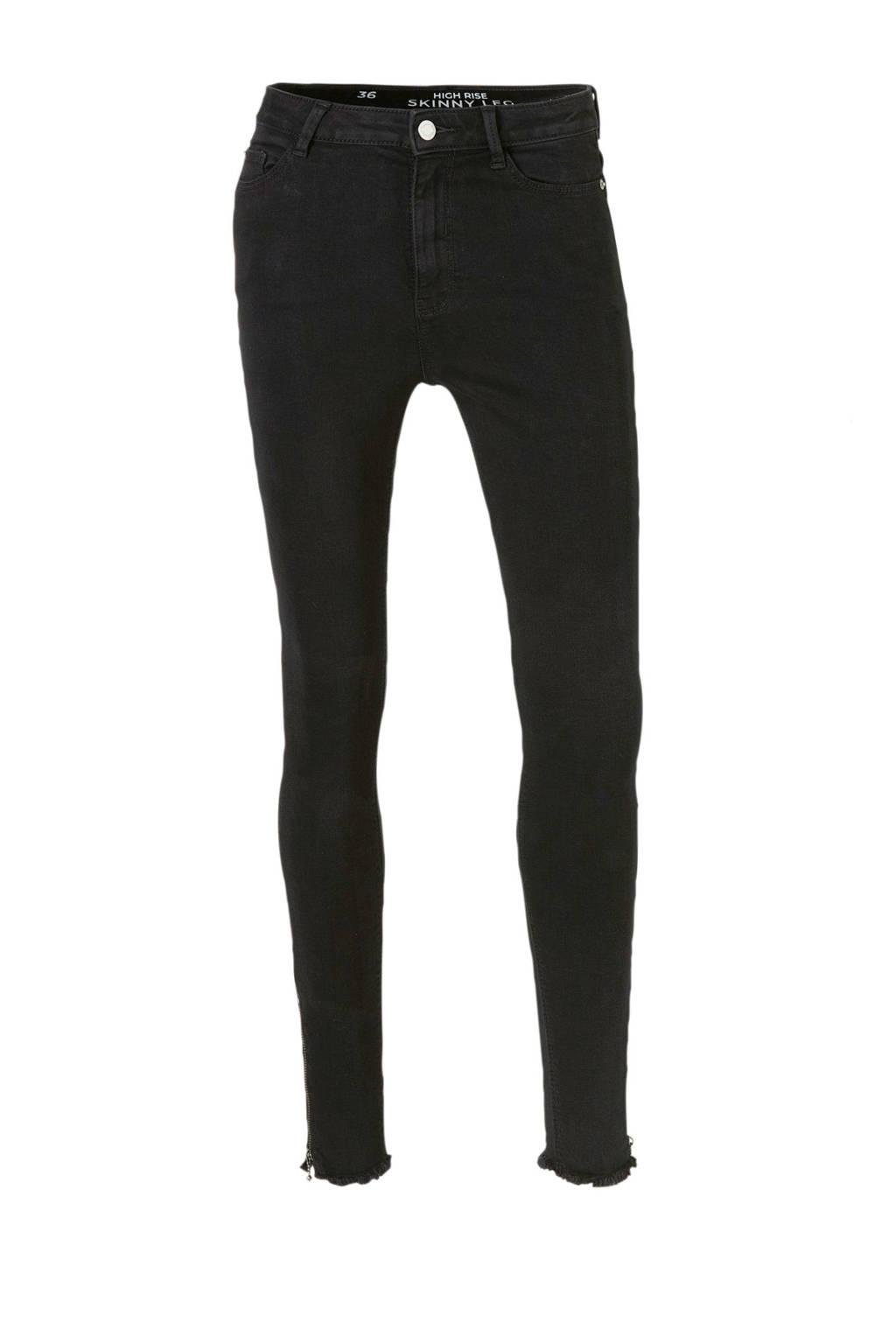 C&A Clockhouse cropped high waist skinny jeans zwart, Zwart