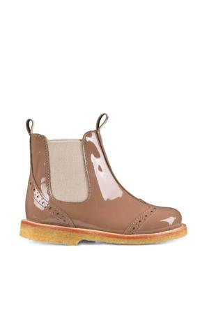 lakleren chelsea boots mocha/beige