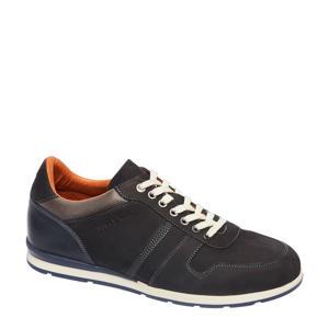 1953202  suède sneakers grijs/blauw