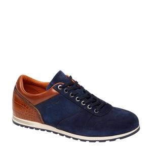 1957210 suède sneakers donkerblauw