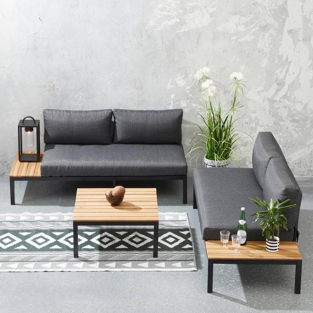 whkmp's own loungeset Monroy, Teak/donkergrijs