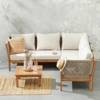 whkmp's own loungeset Marbella, Teak/lichtgrijs/off-white