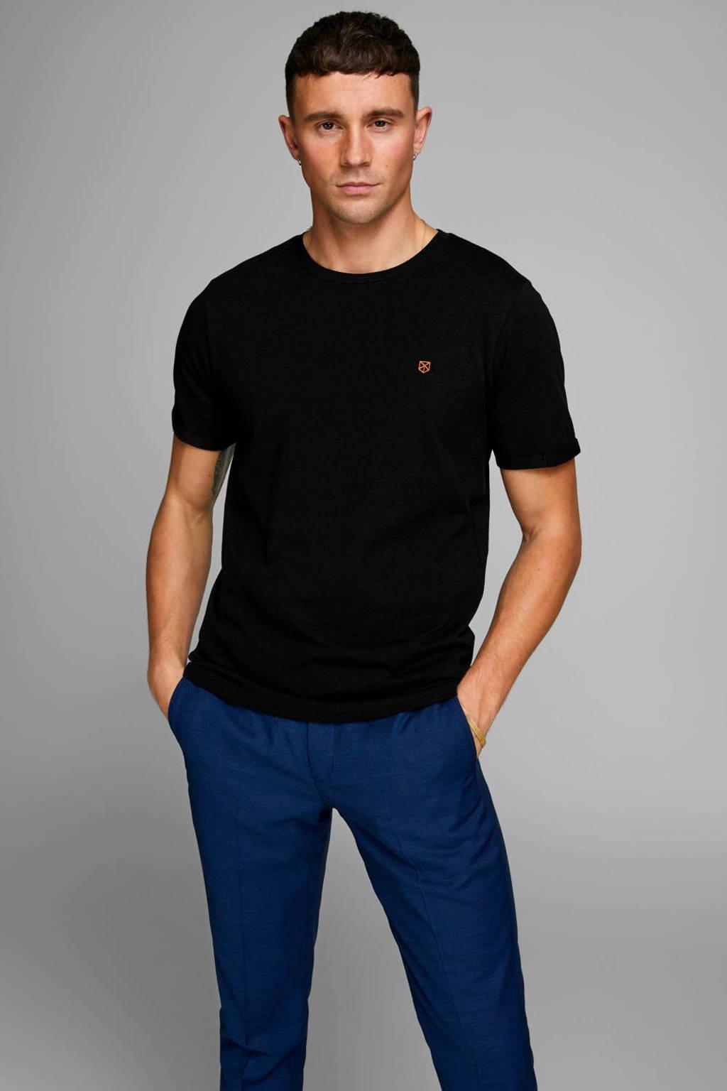 JACK & JONES PREMIUM T-shirt met logo zwart, Zwart