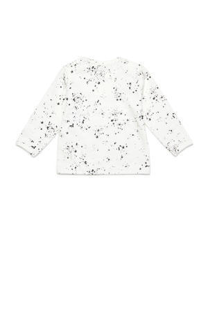 longsleeve Gale met all over print wit/zwart