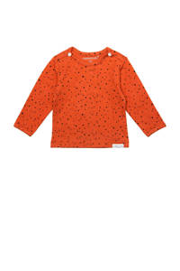 Noppies baby basic longsleeve Kris met biologisch katoen spicy ginger-p557, Spicy Ginger-P557