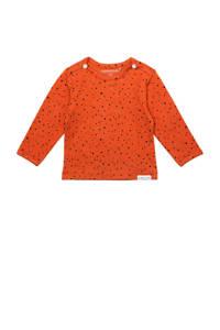 Noppies longsleeve met stippen oranje, Spicy Ginger-P557