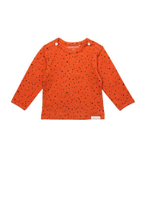 longsleeve met stippen oranje