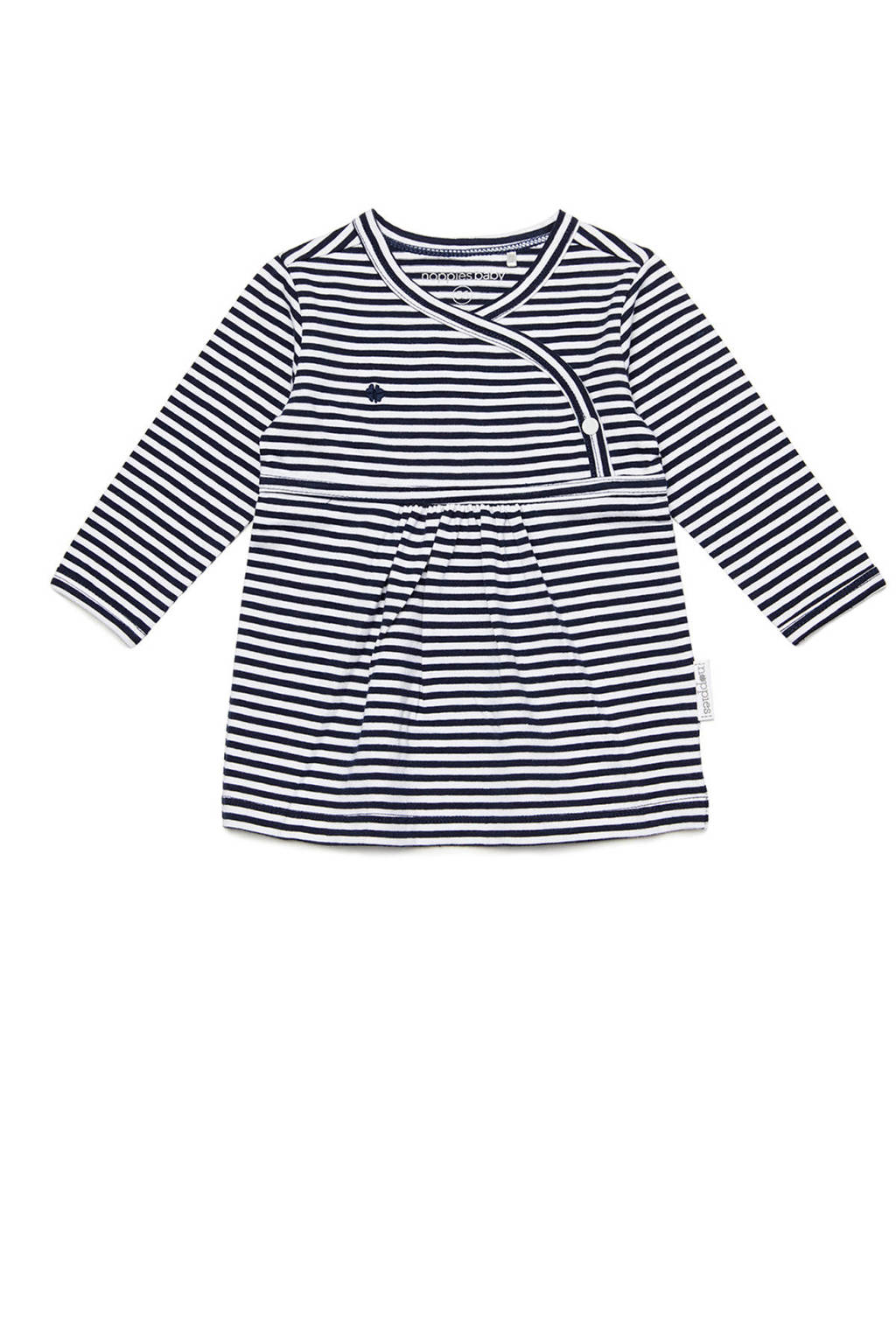 Noppies gestreepte jersey jurk Jazz donkerblauw/wit, Marine