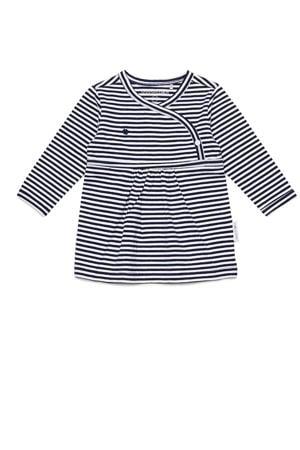 gestreepte jersey jurk Jazz donkerblauw/wit
