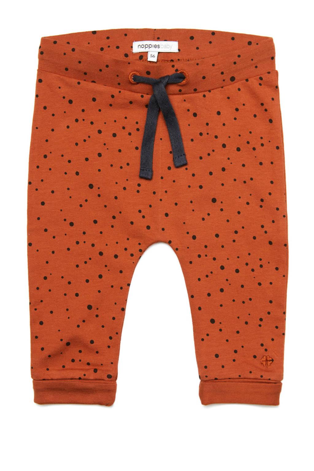 Noppies broek met stippen roodbruin/zwart, Spicy Ginger-P557
